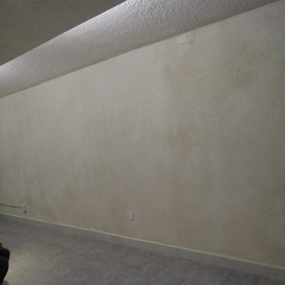 Rehabilitación de muro dañado por húmeda Cd. Azteca