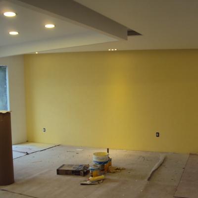 Cajillo y pintura en sala
