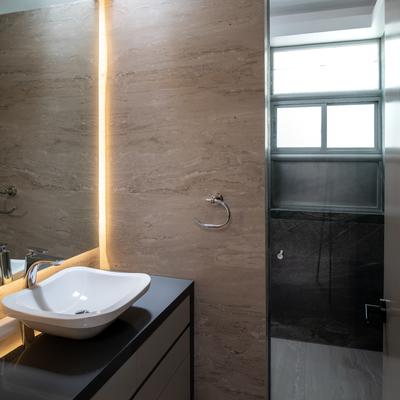 Baño con iluminación