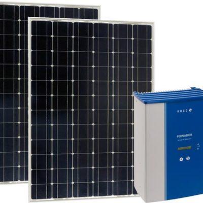 Energía solar con inversor central.
