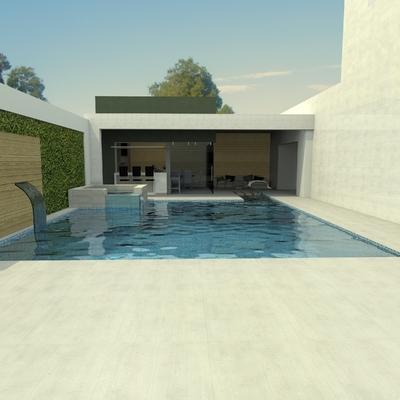 Proyecto de patio casa con alberca 2