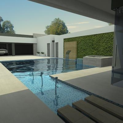 Proyecto de patio casa con alberca 3