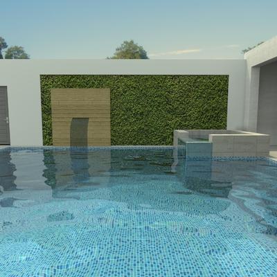 Proyecto de patio casa con alberca 4