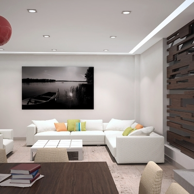 Estancia - Diseño de interiores e infografía