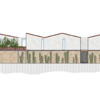 Propuesta 1 fachada de Casa Nora