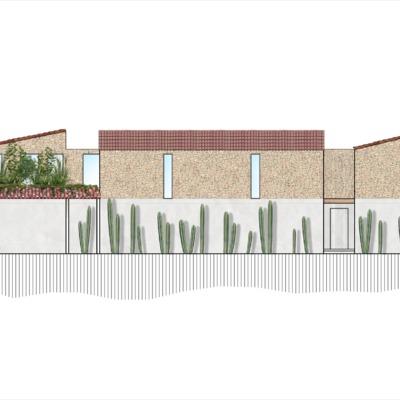 Propuesta 2 fachada de Casa Nora
