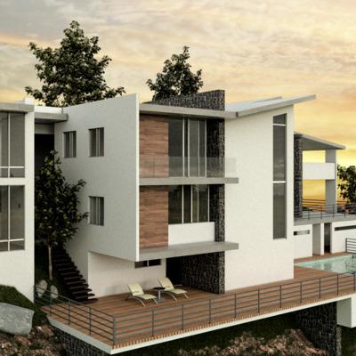 """Casa Residencial """"Collis"""" Fachada posterior"""