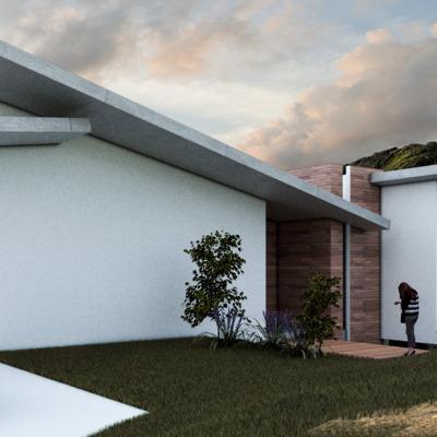 """Casa Residencial """"Collis"""" Fachada principal"""