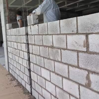 divicion de área con muros de block