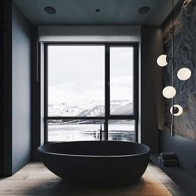 Black desing bañera