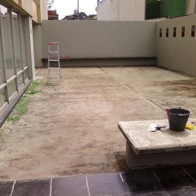 Prepara piso para desbaste