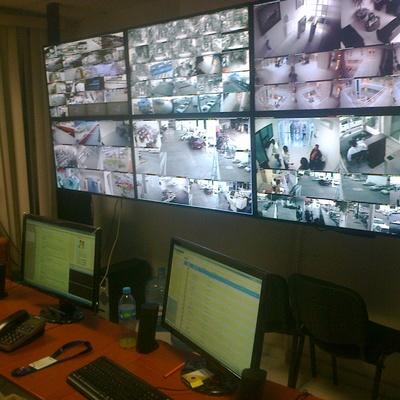 Instalacion del centro de operaciones CCTV videowall Oceanografia