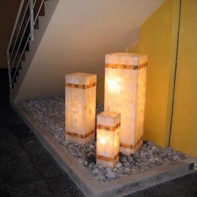 Fuentes de onix con iluminacion