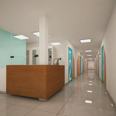 Pasillo de area de niños Hospital
