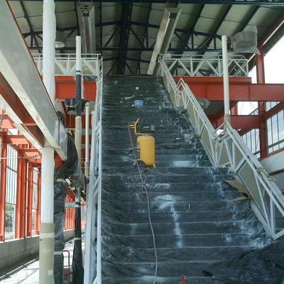 Costrucción de escaleras de acero, concreto