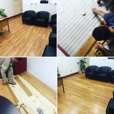 Colocacion de duela de madera de bambú