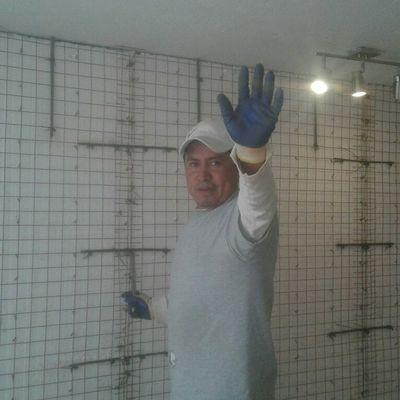 Preparación refuerzo de acero panel W