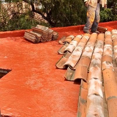 imper y colocacion de teja usada
