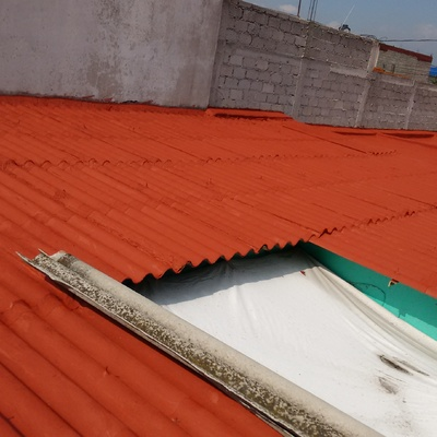 Sistema Tradicional sobre lámina de asbesto.