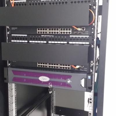 rack multiproposito para CCTV milestone, seneca, fibra optica
