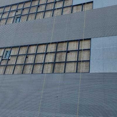 Instalación de lamina en fachada
