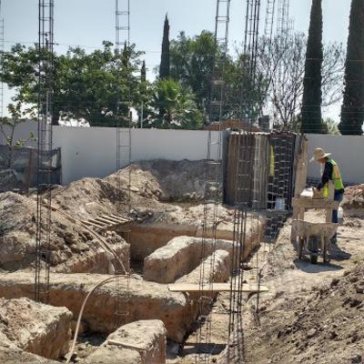 Excavaciones de cimentación en La Rua #188