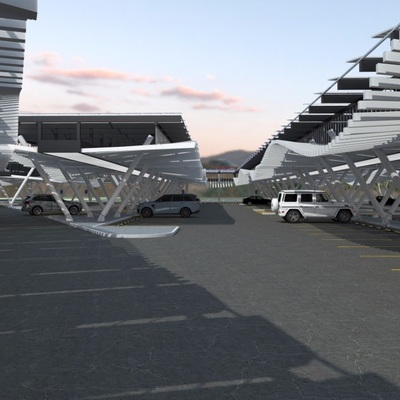 Estacionamiento techado