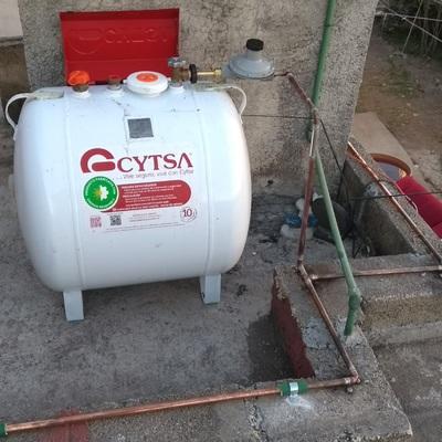 Instalación de gas doméstica