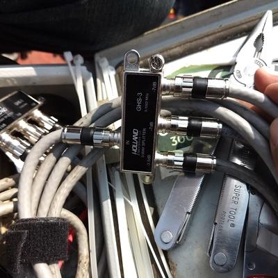 Cable coaxial de televisión.