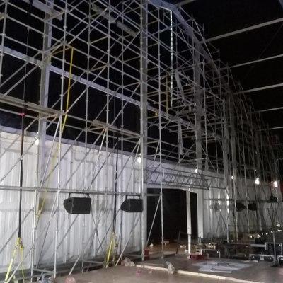 Montaje de Andamio para escenario