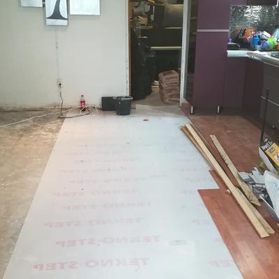 ANTES Instalación de piso