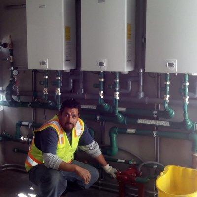 Instalacion de calentadores en serie