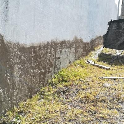ANTES Reparación de muro