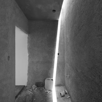 Vista de baño y despliegue de luz