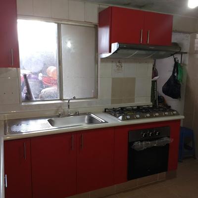 cocina rojo colonial