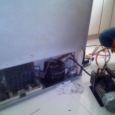 Reparación de condensador de refrigerador