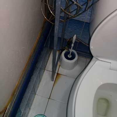 limpieza baño antes