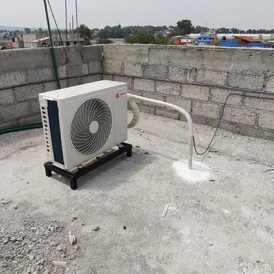 Instalación de condensadora con paso de loza