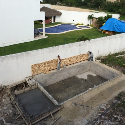 Construcción de alberca 70m3