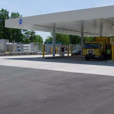 Canopy y zona de repostaje Gas Natural Vehicular