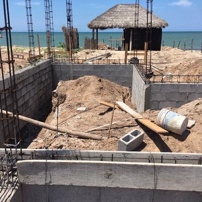 Construccion de casa de playa etapa cimentacion