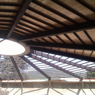 cibierta en madera para estructura de salon de fiestas