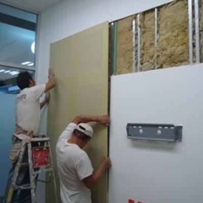 instalación de materiales