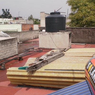 instalacion vista completa de calentador solar
