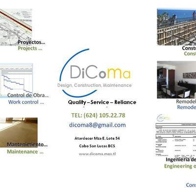 DiComa Diseño , Construccion, Mantenimiento, Servicio y confianza .