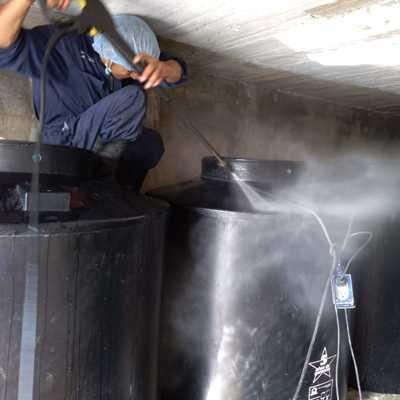 Lavado de tinacos en Condominio Musset Polanco