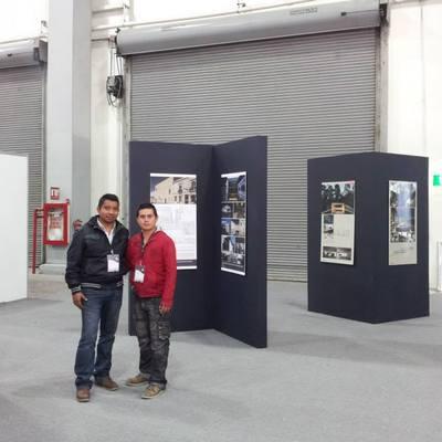 Mamparas para montaje de Bienal de arquitectura expo Cihac