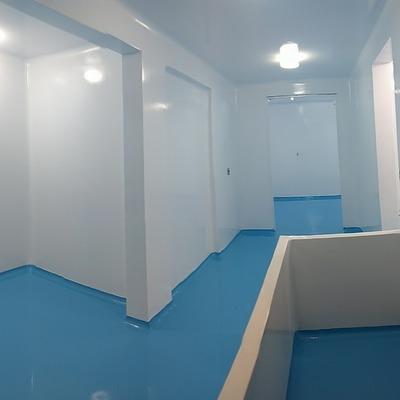 Muros y pisos epoxicos para clinicas.
