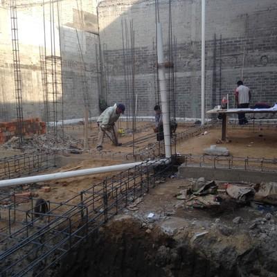 Inicio de construcción desde cimientos