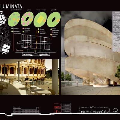 Concurso para el museo del cine, Roma, Italia.